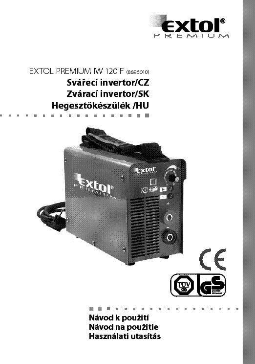 Extol Premium Iw 120f Igbt User Manual Hun Service Manual