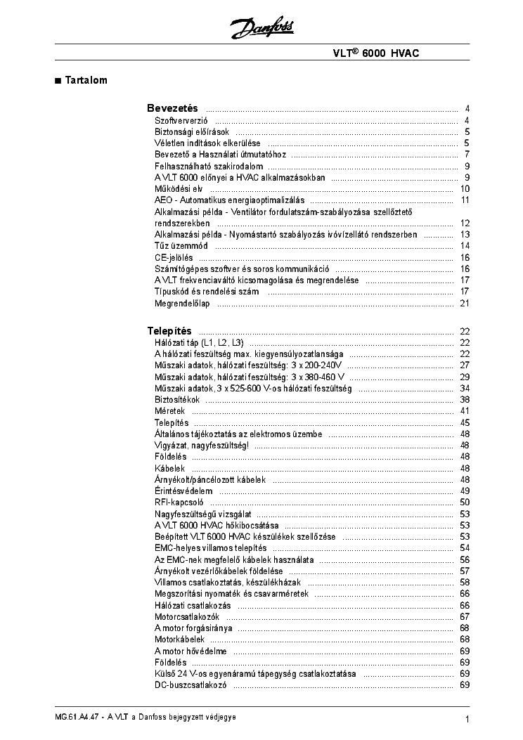 Danfoss Fc300 Frequency Inverter Hu Service Manual