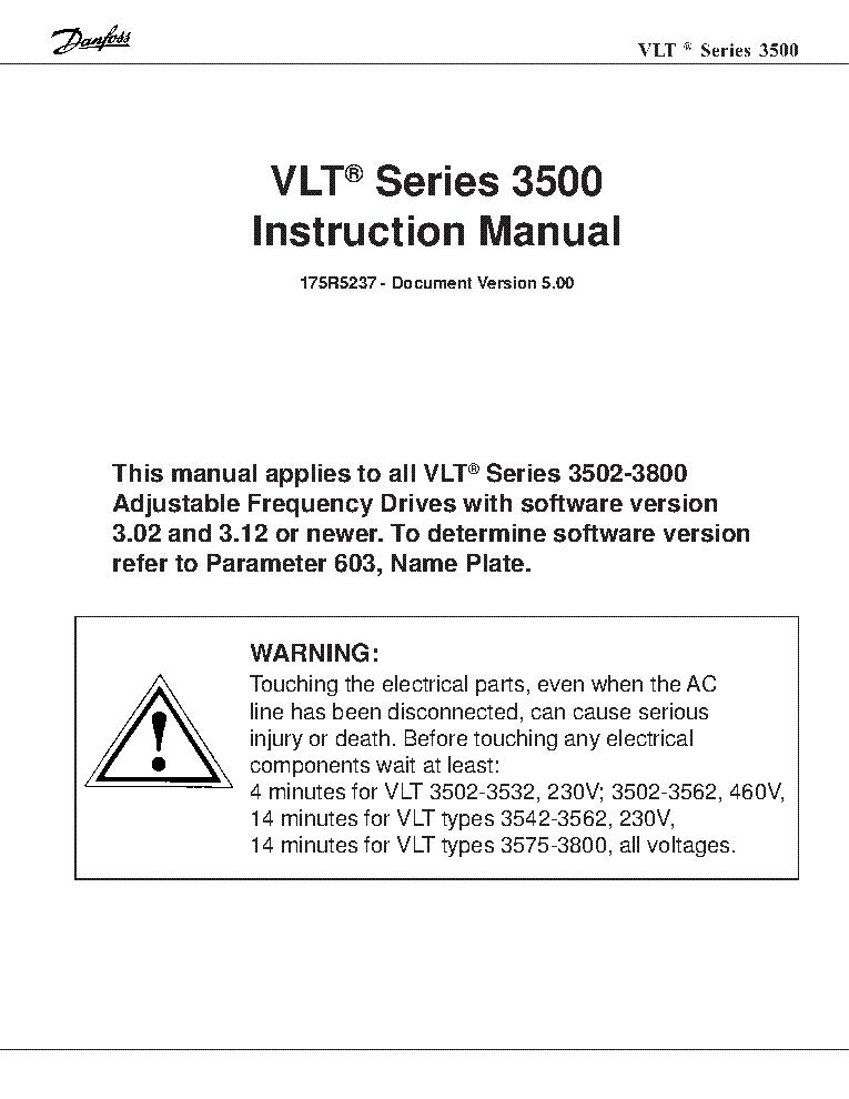danfoss vlt 3522 frequency inverter en service manual (2nd page)