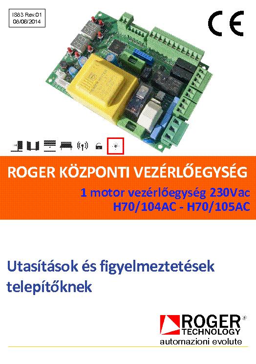 Roger H70 200 Ac инструкция - фото 2
