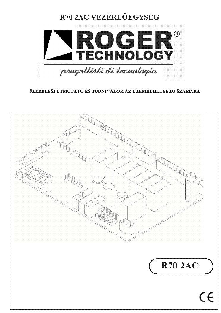 Roger R70 2 Ac Vezerles Usermanual Hu Service Manual