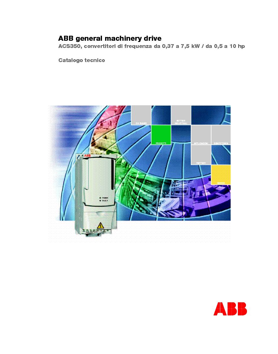 ABB ACS350 GENERAL MACHINERY DRIVE CATALOGUE service manual (1st page)