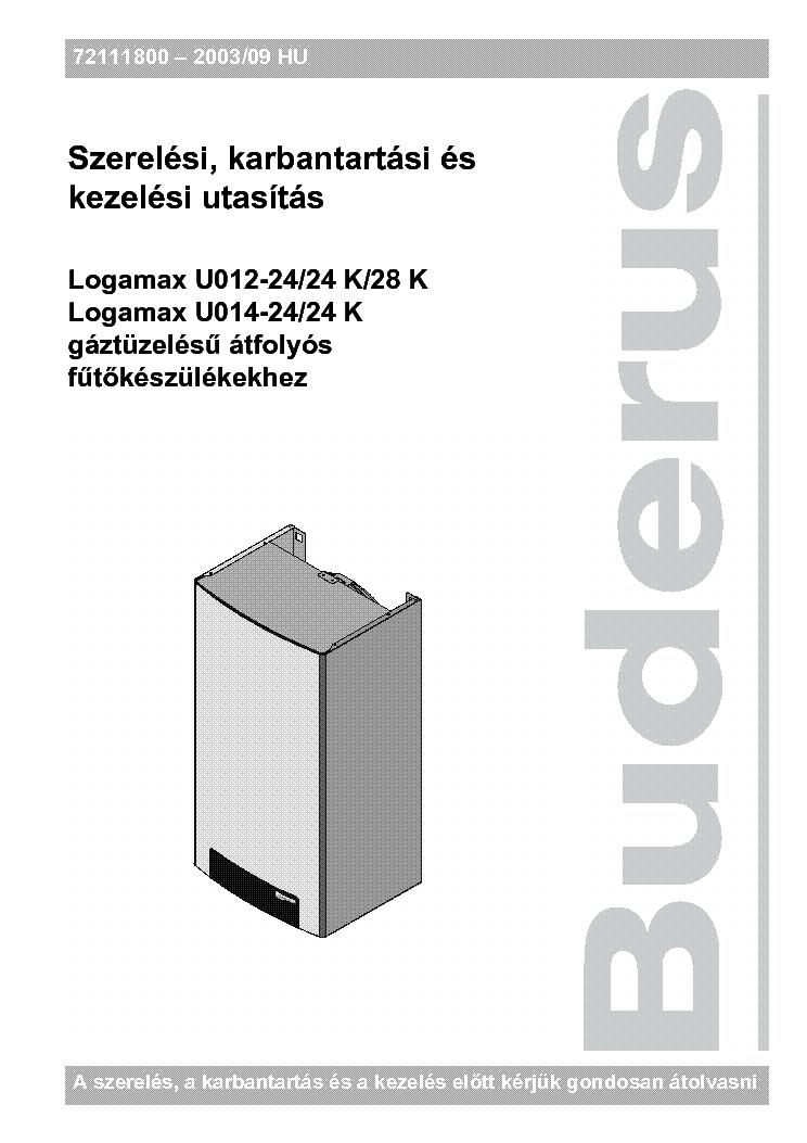 buderus logamax u012 24 24k 28k u014 24 falikazan karbantartasi rh elektrotanya com manuel buderus logamax u052 buderus logamax plus gb162 installation manual