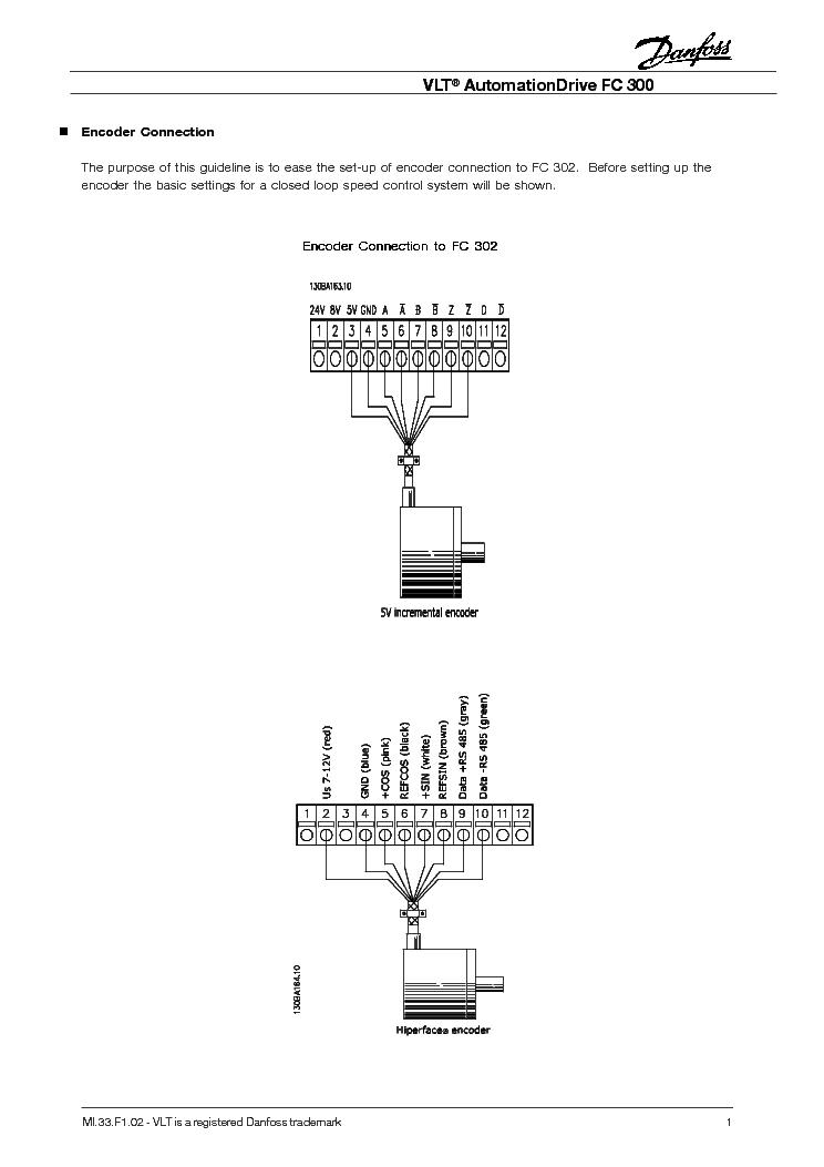 Danfos Fc300 Encoder Connection Service Manual 1st Page: Graham Vlt 3500 Wiring Diagram At Aslink.org