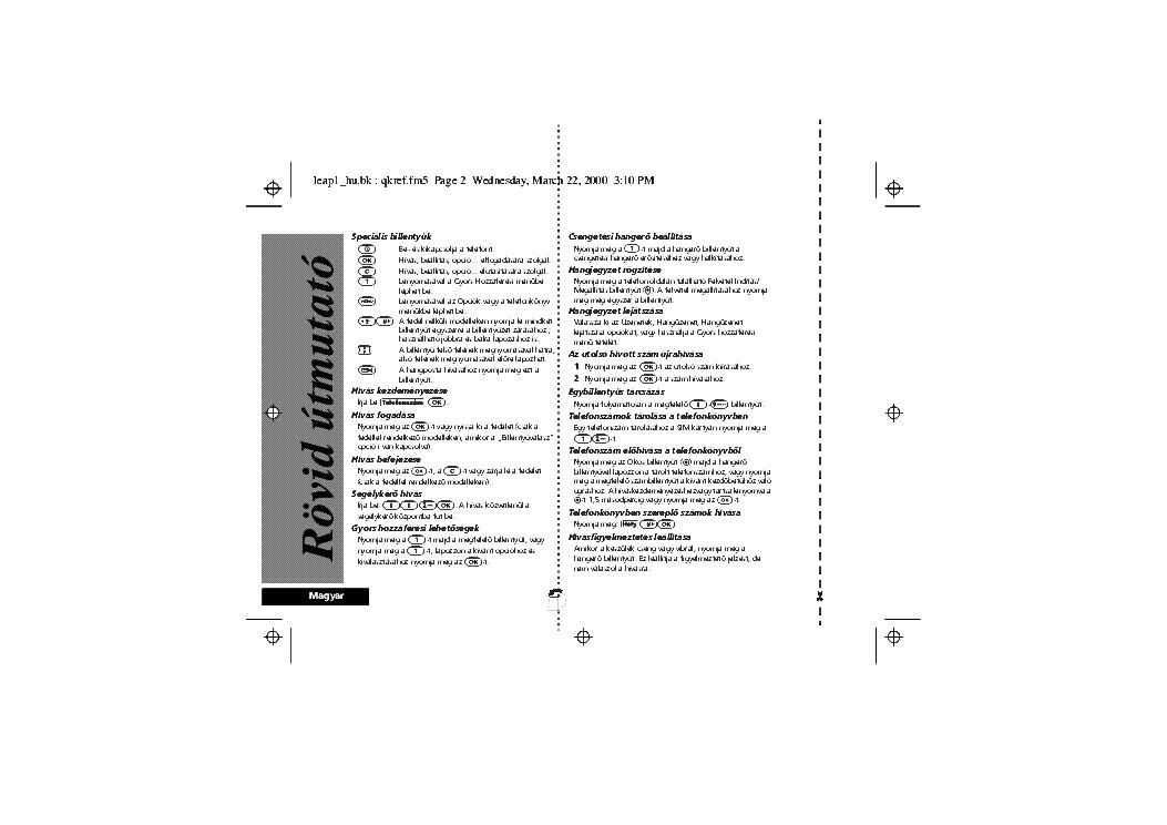 Motorola Timeport L7089 Usermanual Hu Service Manual