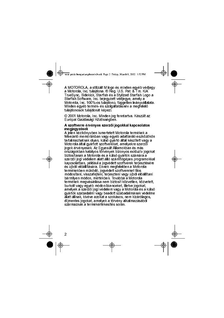 Motorola V60 Usermanual Hu Service Manual Download