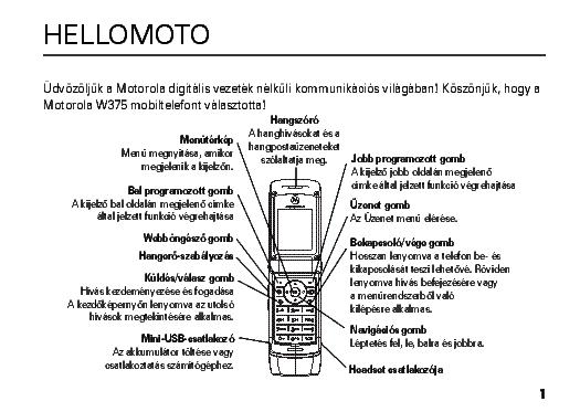 motorola w375 usermanual hu service manual download schematics rh elektrotanya com motorola w375 user manual Motorola W315