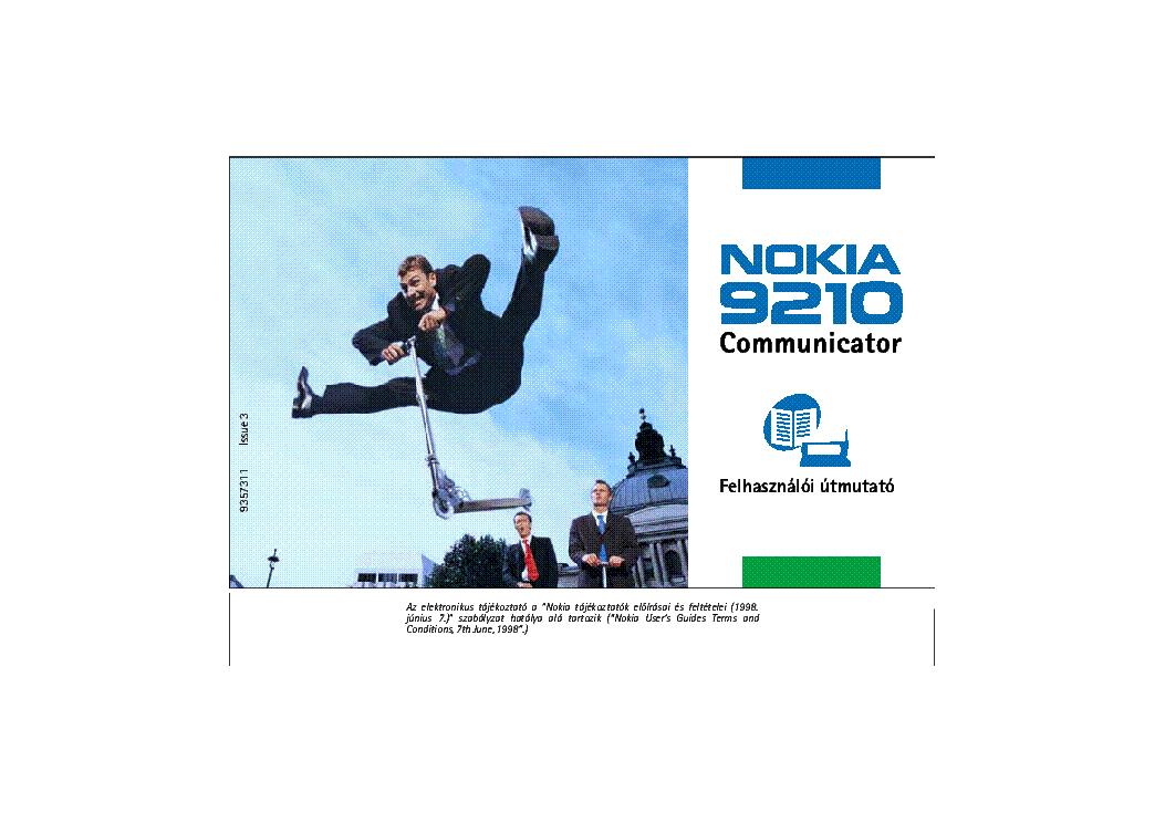 Nokia 9210 Usermanual Hu Service Manual Download