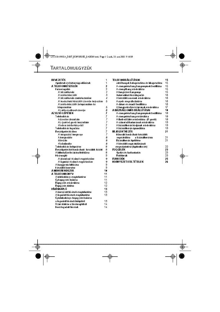 Sagem D20t Usermanual Hu Service Manual Download