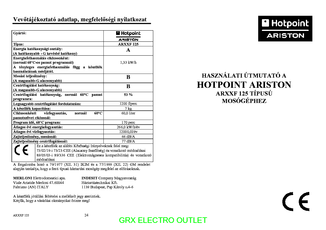 Ariston Aq8d49u Usermanual Service Manual Download Schematics Eeprom Repair Info For Electronics Experts