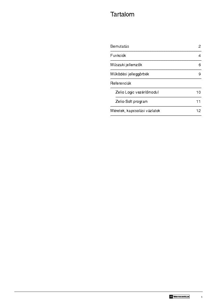 SCHNEIDER ZELIO PLC DATASHEET Service Manual download