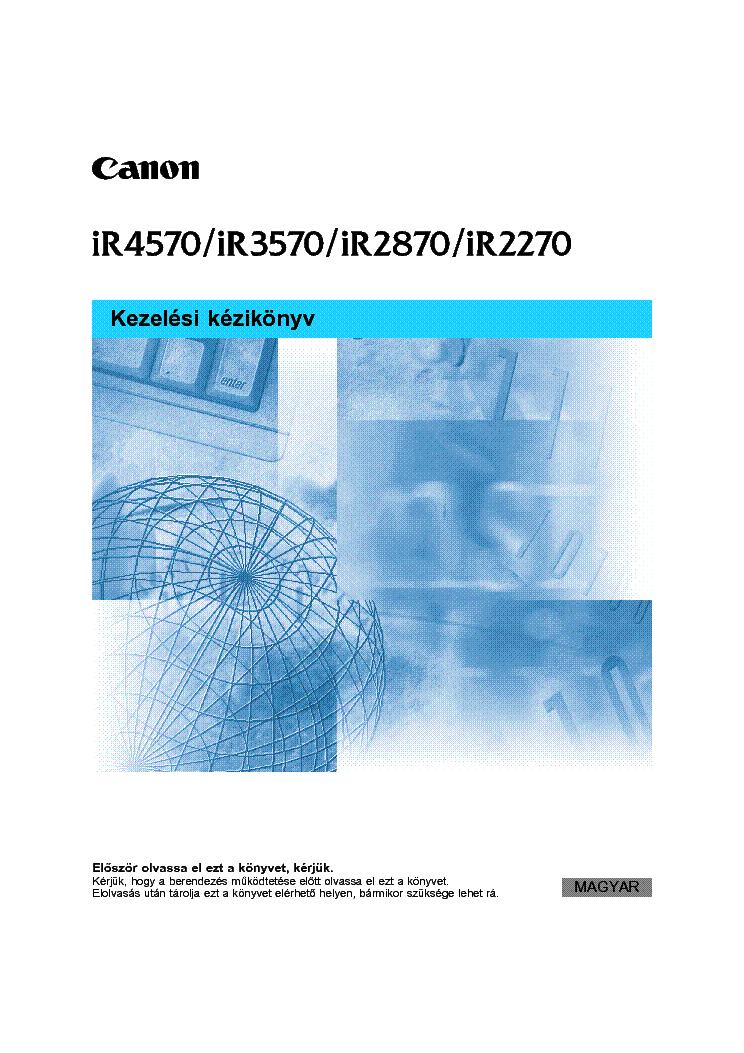 Canon iR2270 2870 3570 4570 Service Manual & Repair Guide