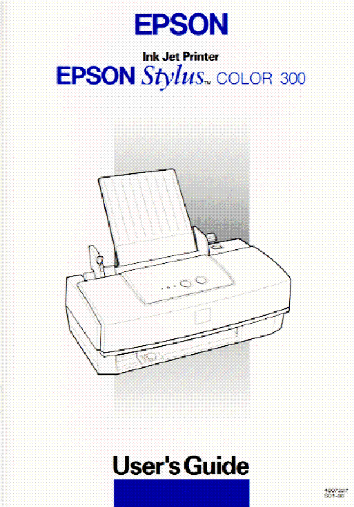 Epson Stylus Color 300 User Guide Service Manual Download