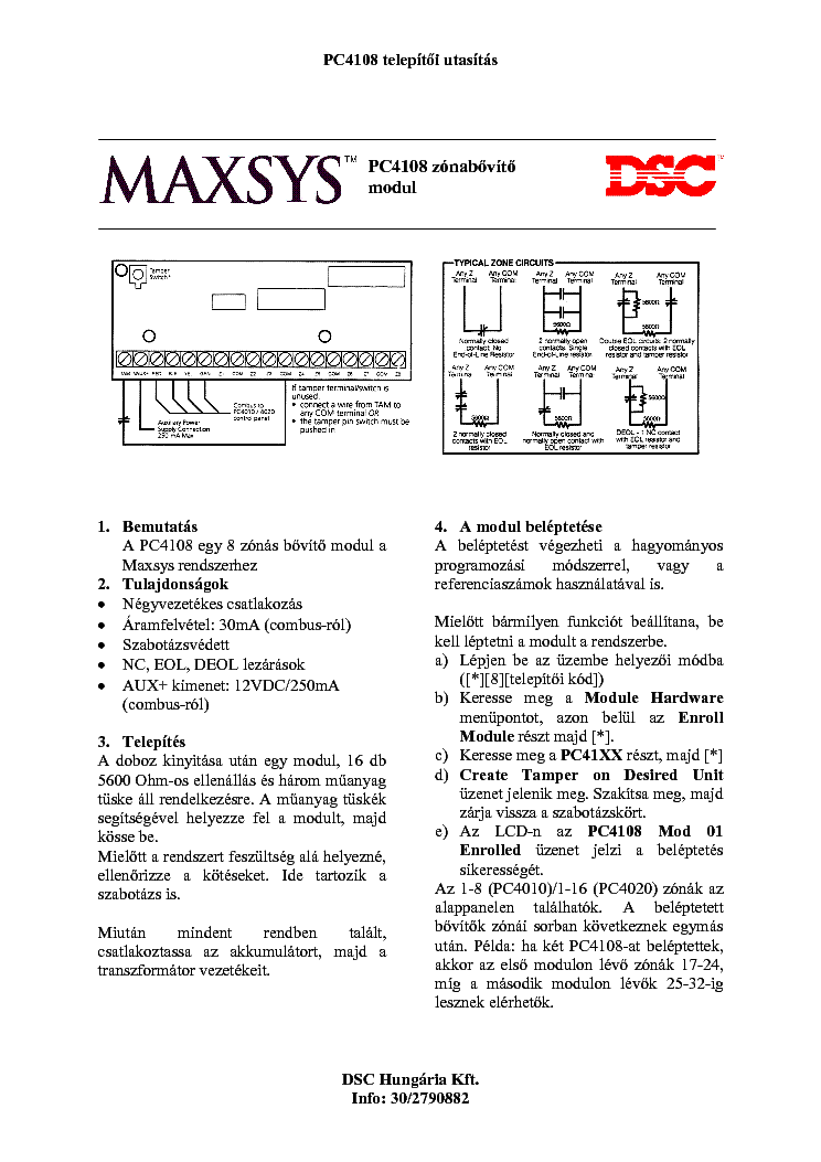 Dsc Pc4108 Telepites Service Manual Download  Schematics