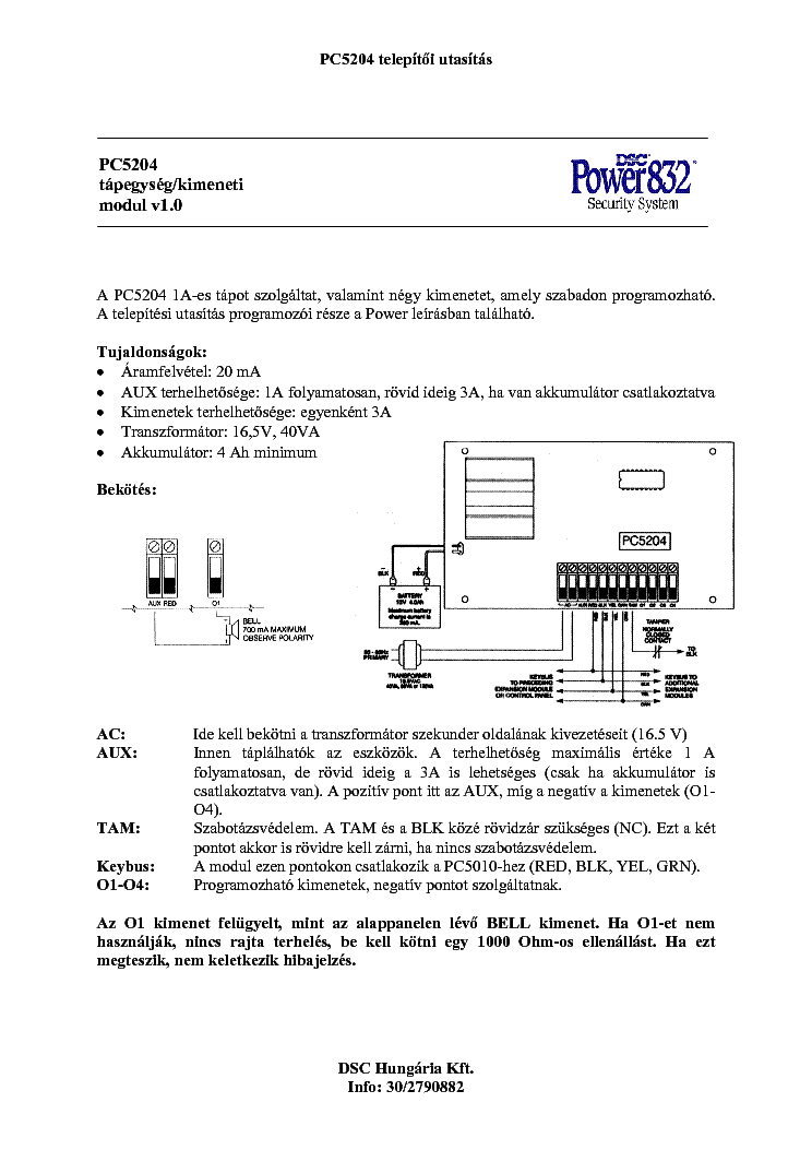 Dsc Pc5204 Telepites Service Manual Download  Schematics