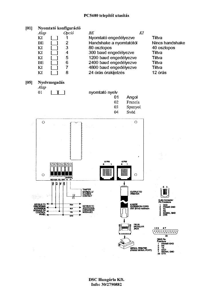 Dsc Pc5400 Telepites Service Manual Download  Schematics