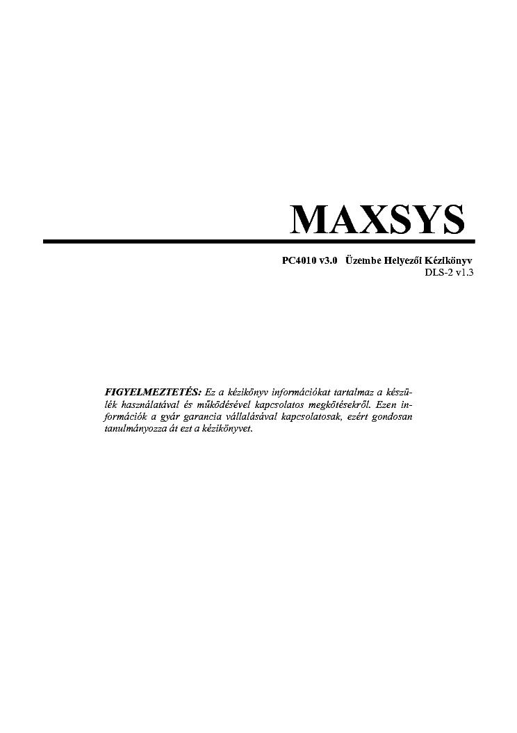 Maxsys Dsc Pc4010 V3 Dls