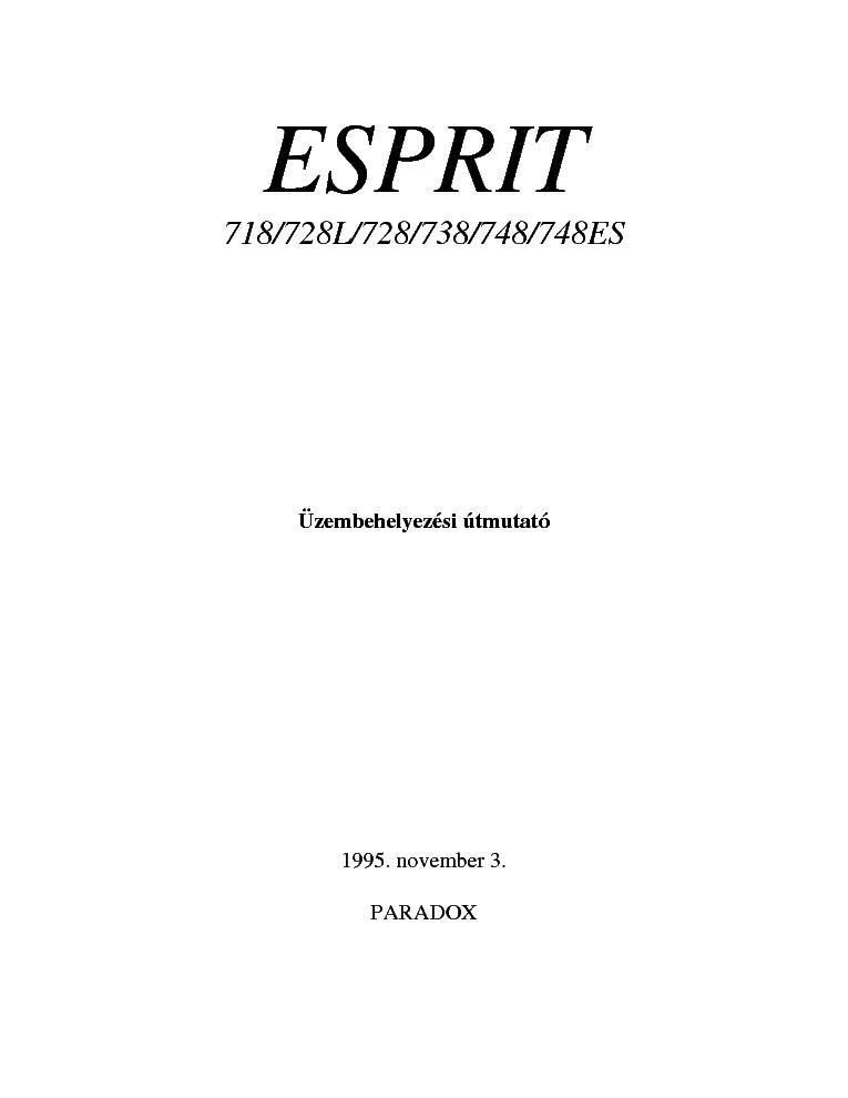 paradox esprit 718 728l 728 738 748 748es telepites service manual rh elektrotanya com paradox esprit 738 user manual paradox esprit 738 user manual greek