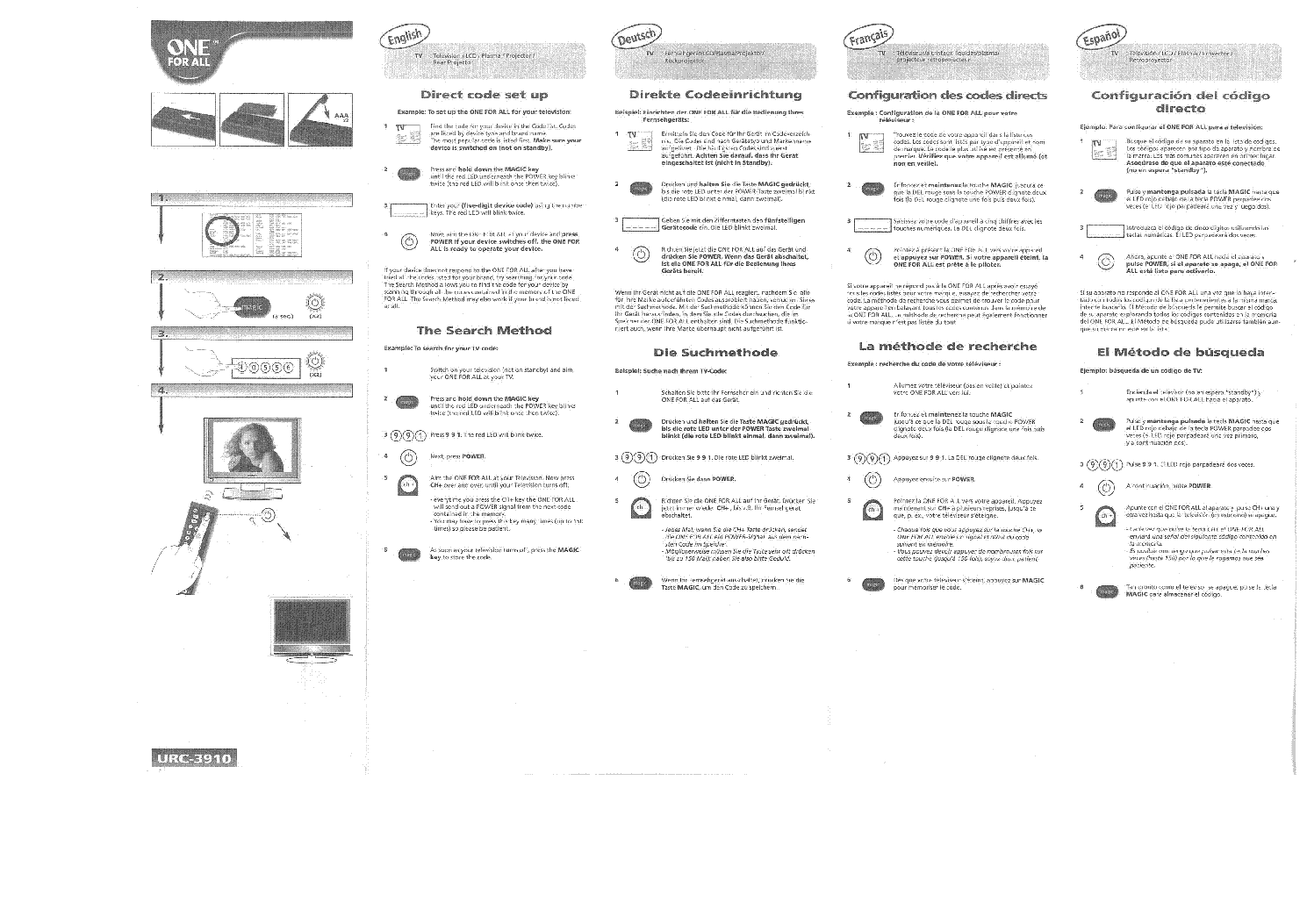 One For All Urc3910 De En Fr Nl Hu Service Manual Download