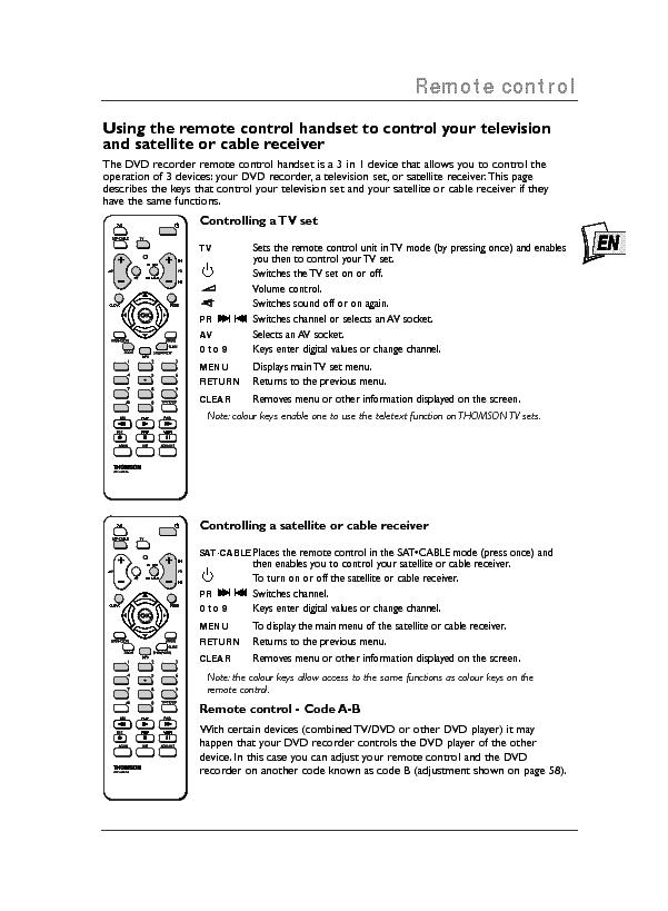 Thomson Rct311 Dbm1e Eng User Manual Service Manual