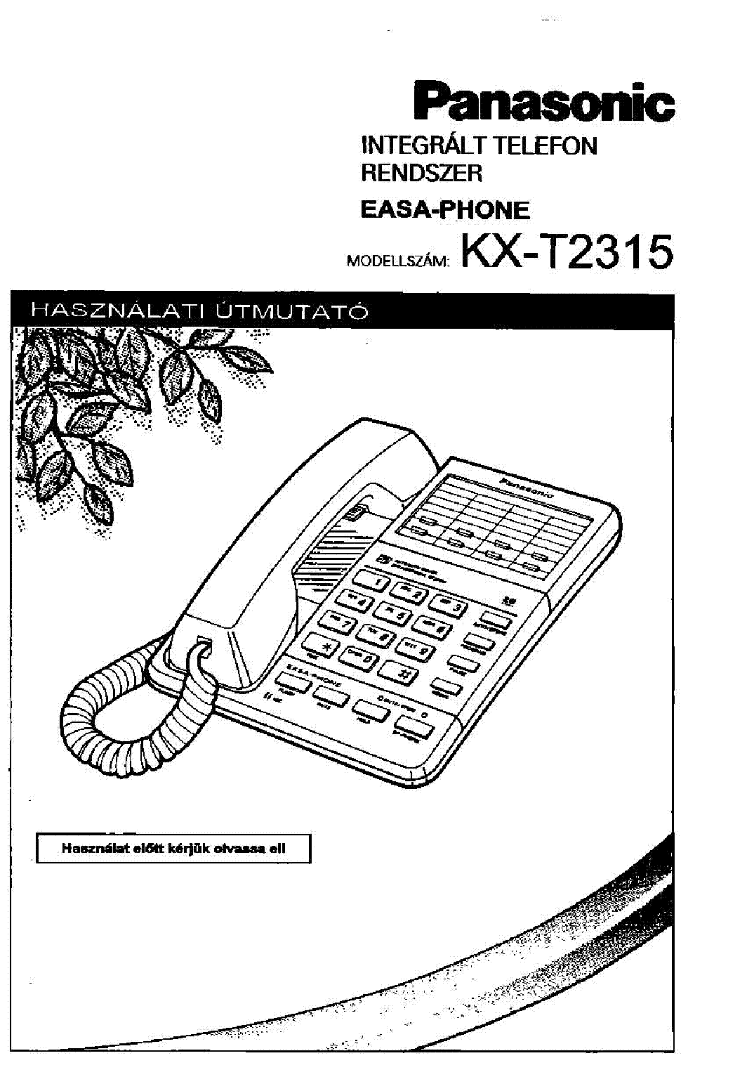 panasonic kx tga20 user manual