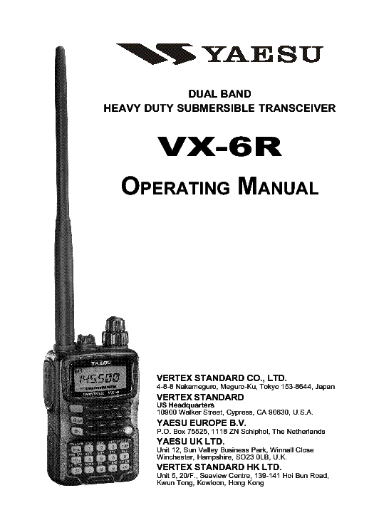 download vertex yaesu vx 7r repair service manual