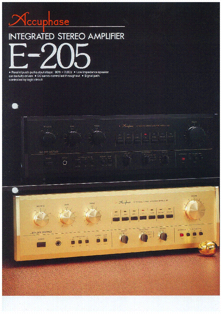 Accuphase E 205 En Service Manual Download Schematics