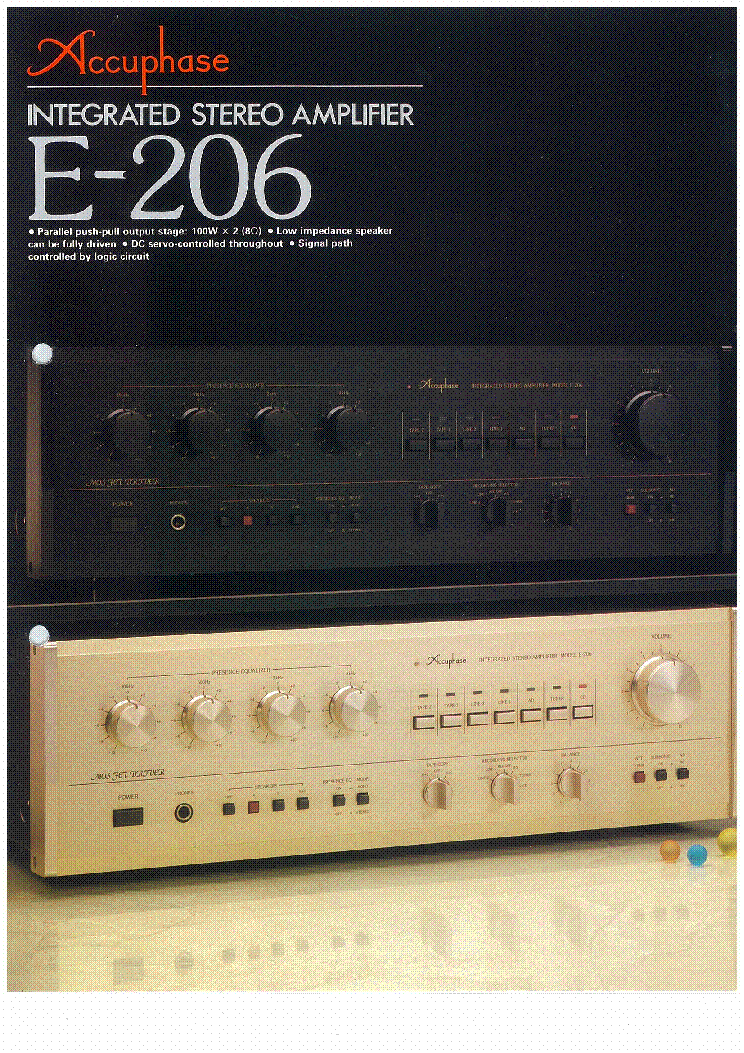 Accuphase E 206 En Service Manual Download Schematics