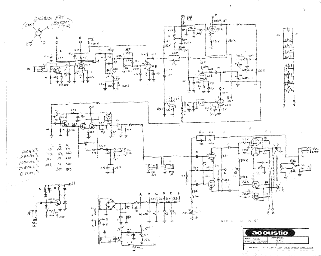 acoustic amp 160 schematic 20 amp electrical schematic wiring diagram