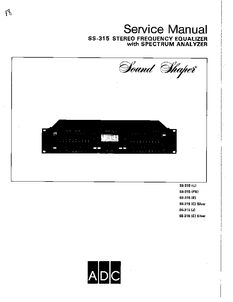 ADC SS-315-XX SM service manual (1st page)