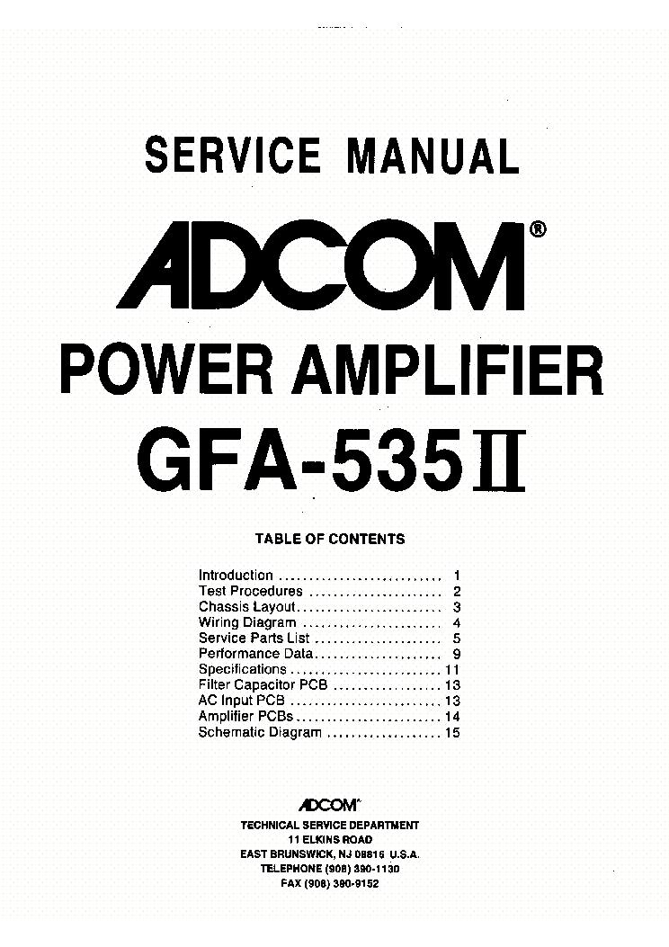 adcom gfa 535ii service manual download schematics eeprom repair rh elektrotanya com adcom gfa 545 ii manual Adcom GTP-500 II Tuner