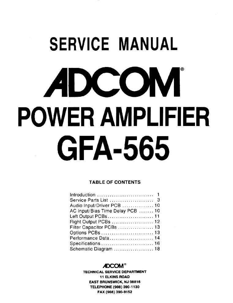 adcom gfa 565 sm service manual download schematics eeprom repair rh elektrotanya com adcom gfp-565 owners manual