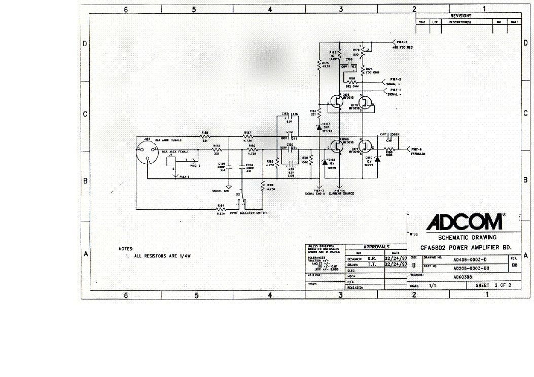 adcom gfa 5802 sch service manual download schematics eeprom rh elektrotanya com Repair Adcom GFA-555 Adcom GFA-555 Schematic