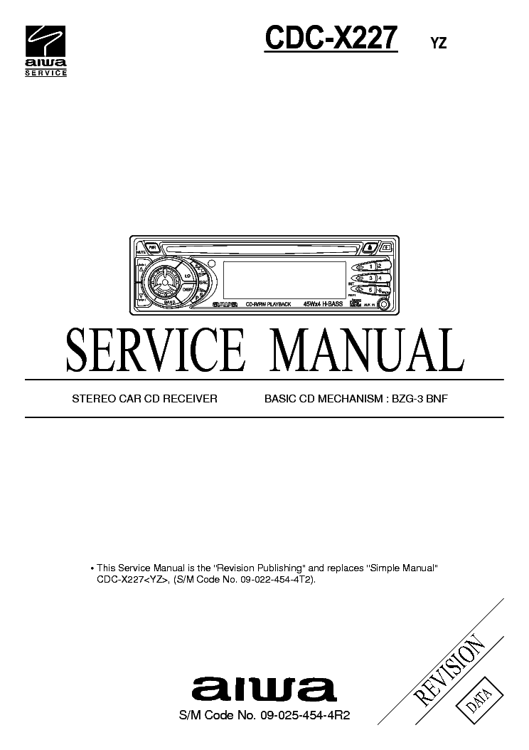 AIWA CDC-X227 service manual