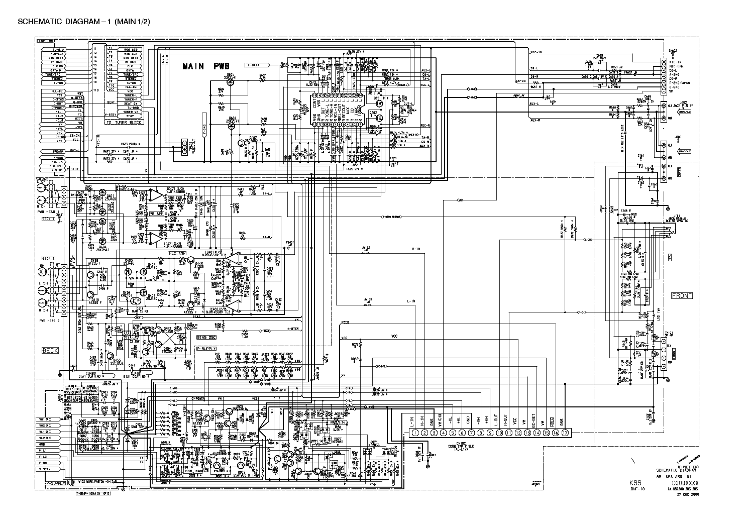 Aiwa Cx Lfd55 Electrical Schematic Diagram Model Wiring Bots Detailed