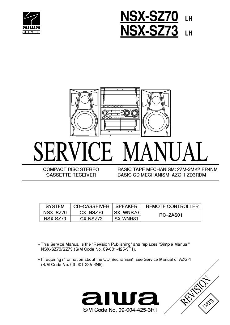 aiwa cx nsz70lh service manual download schematics eeprom repair rh elektrotanya com