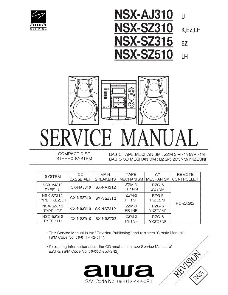 Aiwa Nsx-r37 инструкция - фото 5