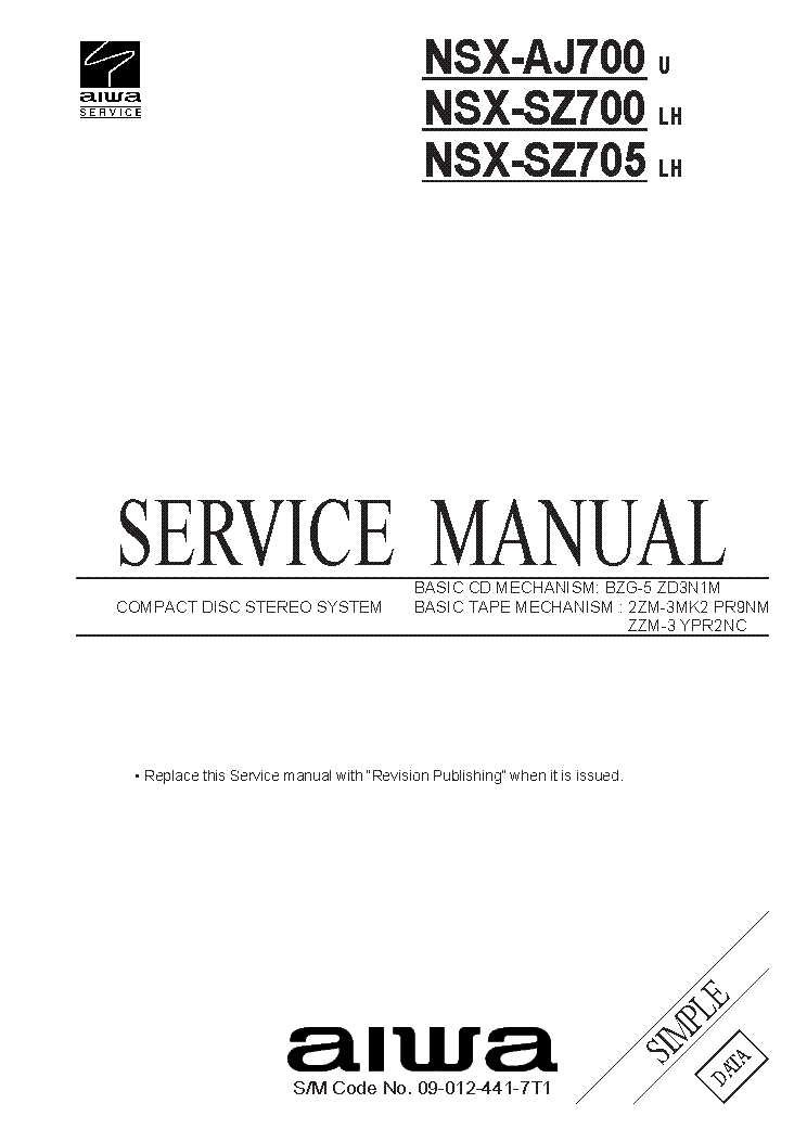 aiwa ad m700 f 66m service manual download schematics eeprom rh elektrotanya com