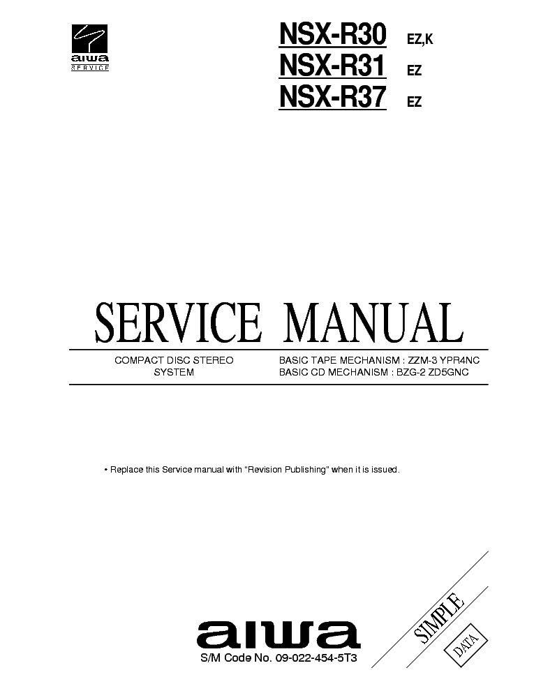 Aiwa nsx r инструкция