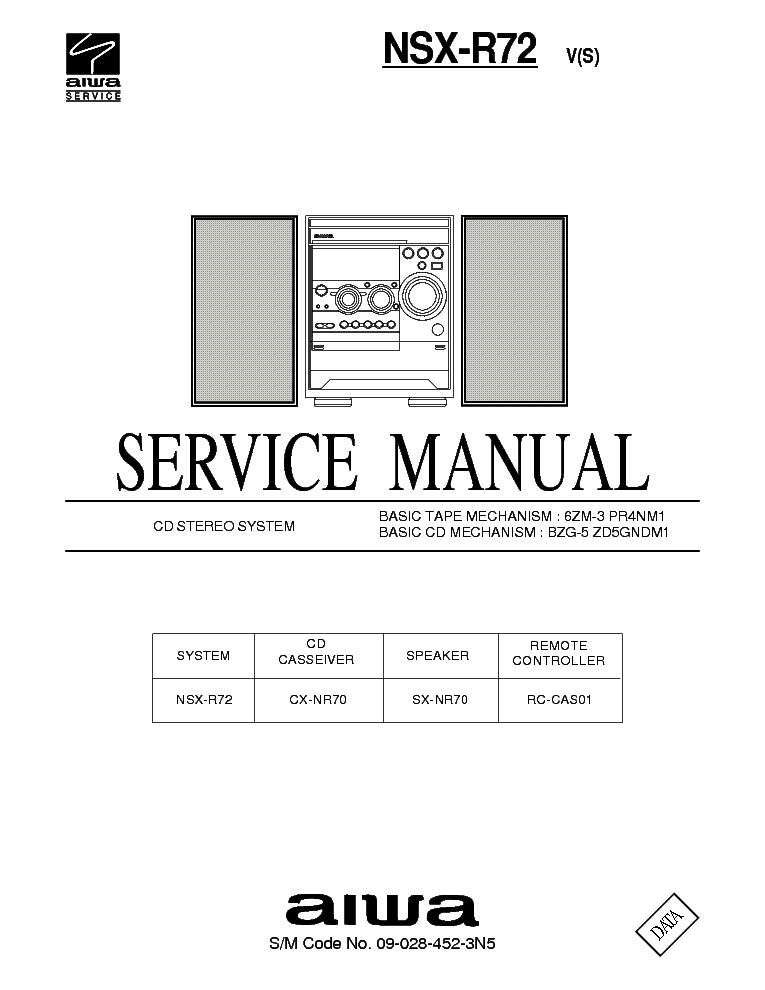 инструкция aiwa nsx r82
