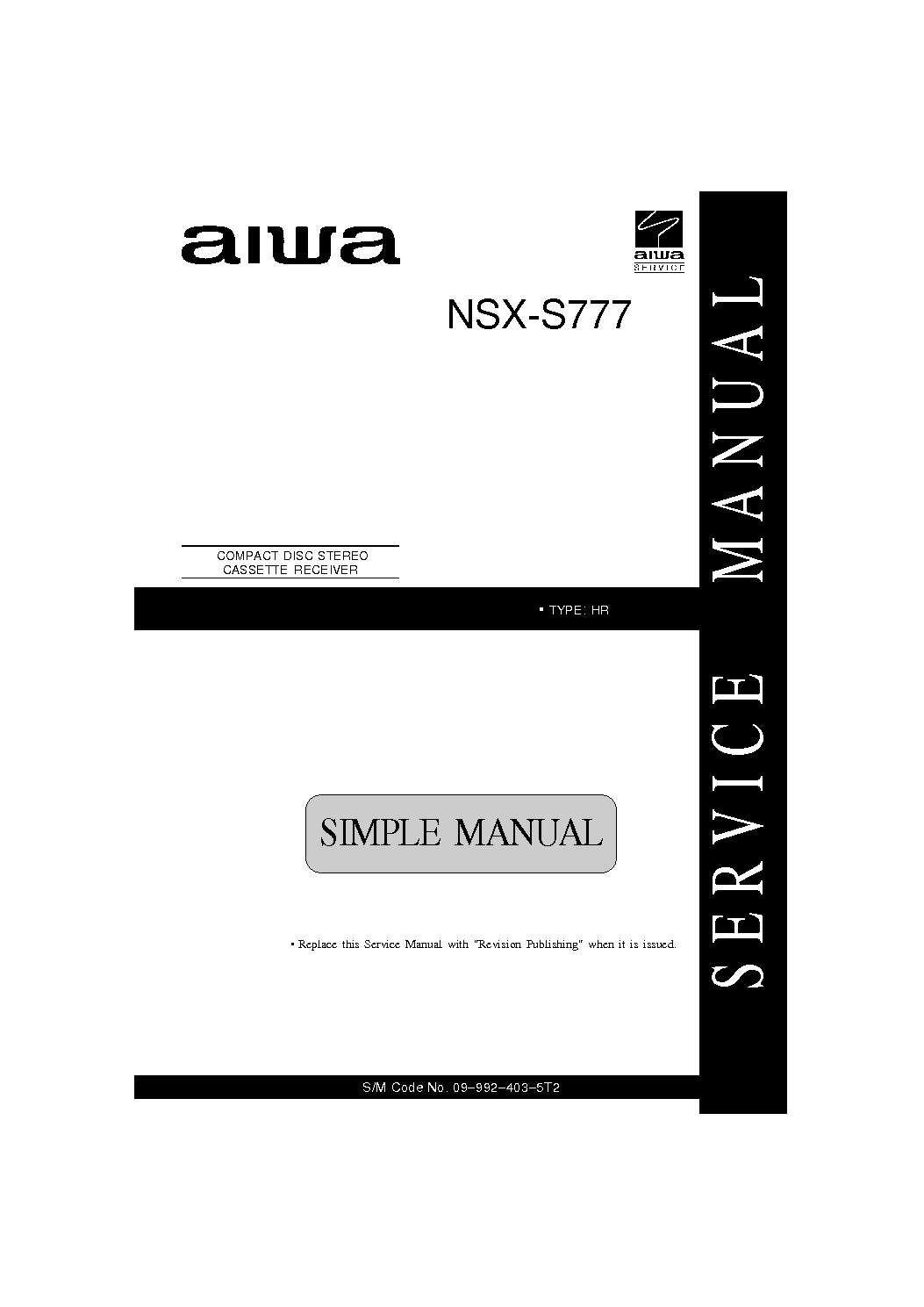 AIWA NSX-S777 service manual (1st page)
