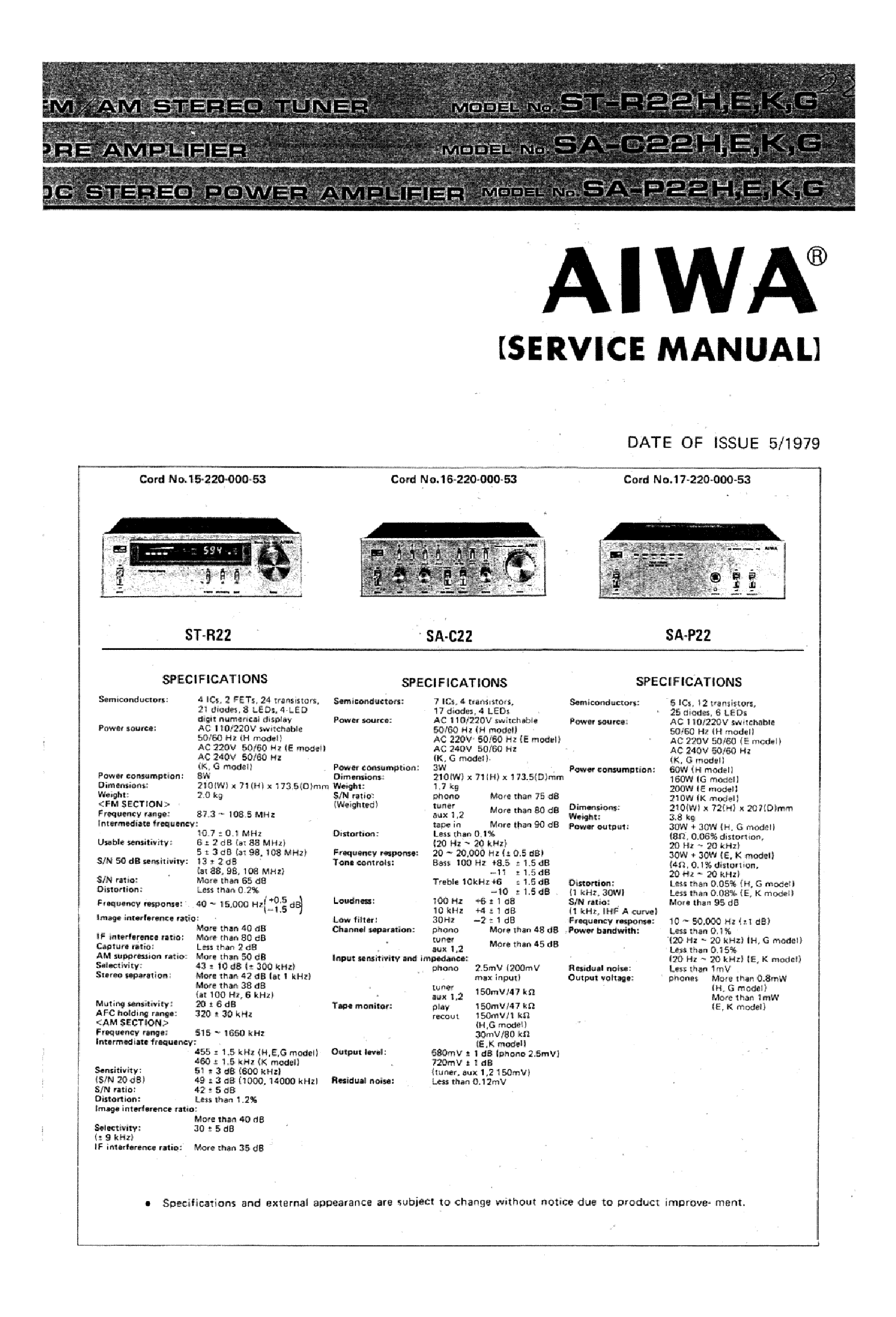 aiwa st r22 sa c22 sa p22 service manual download schematics rh elektrotanya com Aiwa Subwoofer Aiwa CD Player