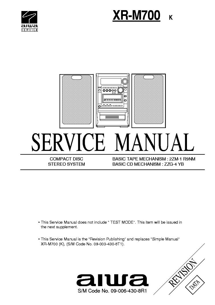 aiwa xr m700 service manual download schematics eeprom repair rh elektrotanya com aiwa xc-700 service manual