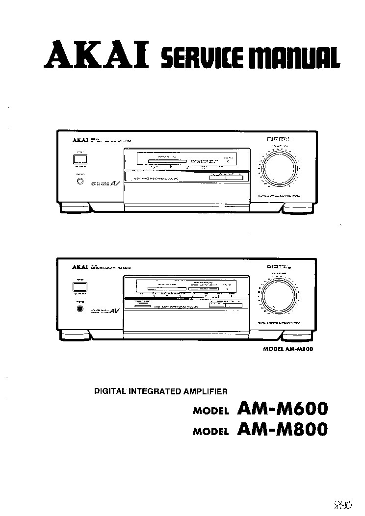 AKAI AM-M600 M800 service manual