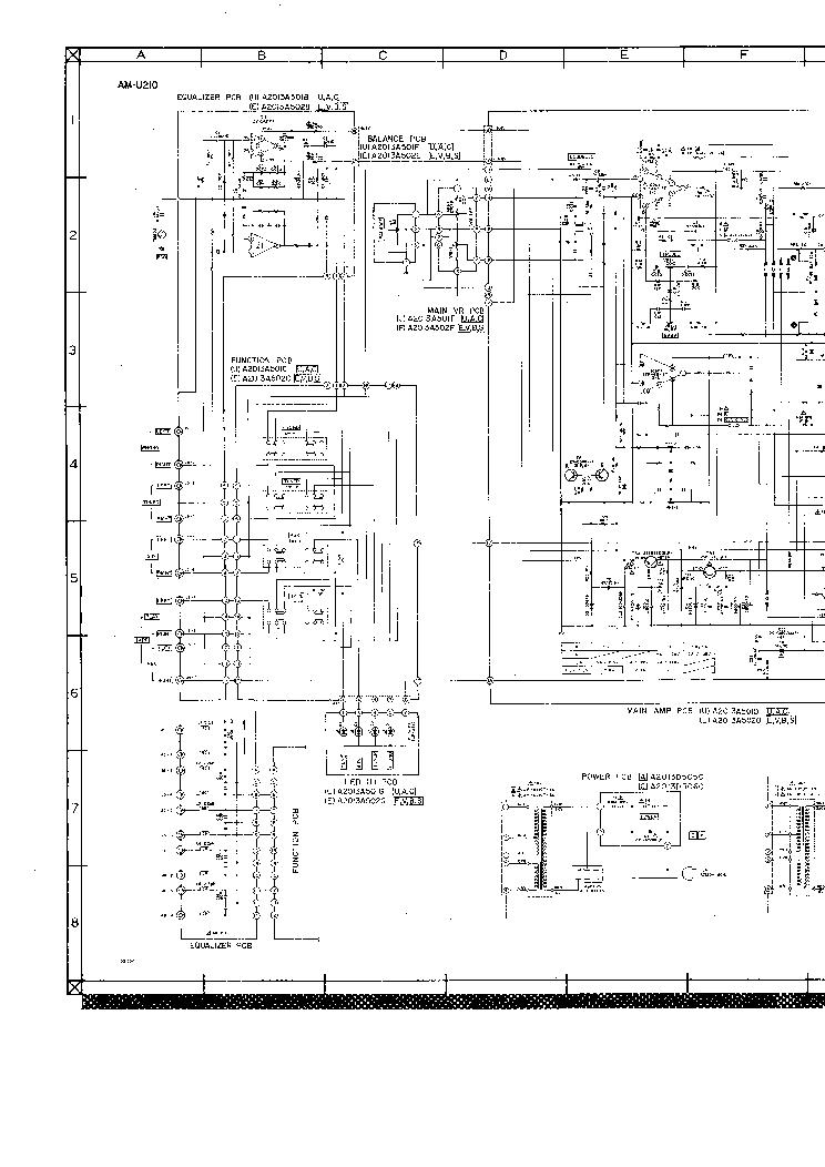 akai am u210 ampl service manual download  schematics