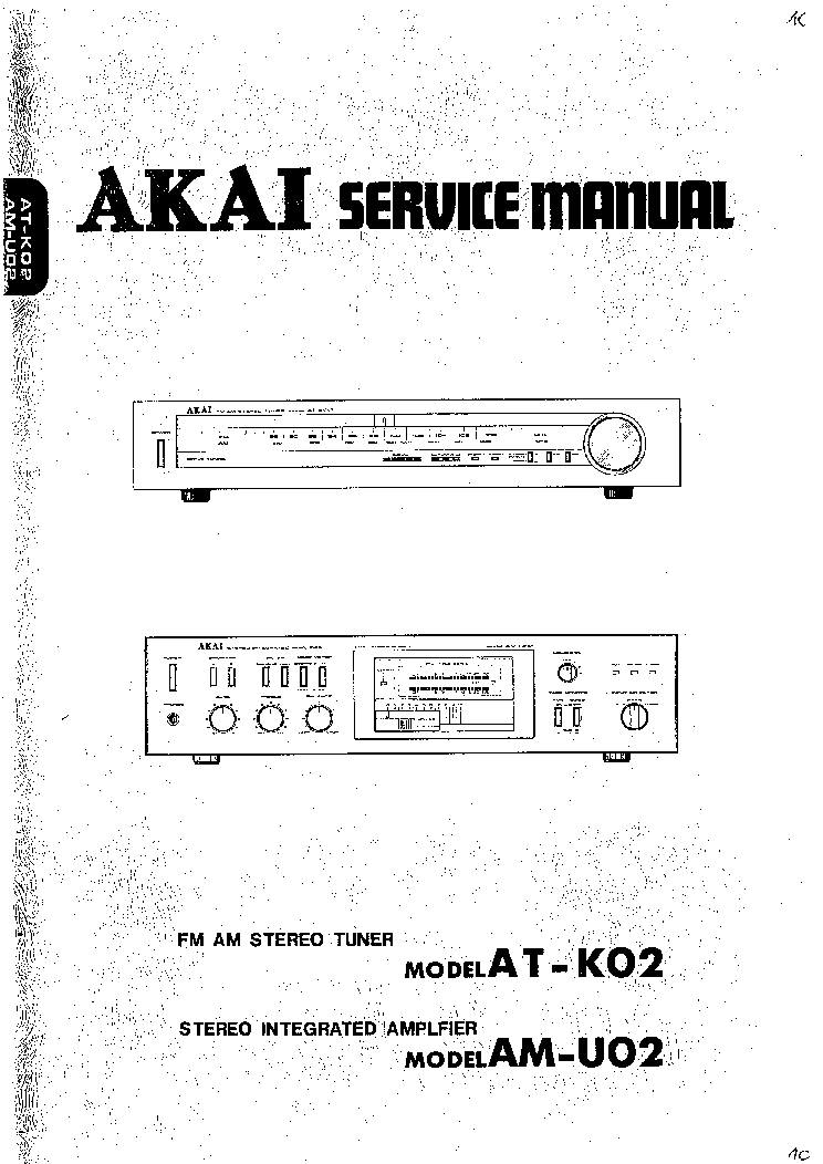 akai at k02 am u02 sm service manual download schematics eeprom rh elektrotanya com akai s5000 service manual akai service manuals free