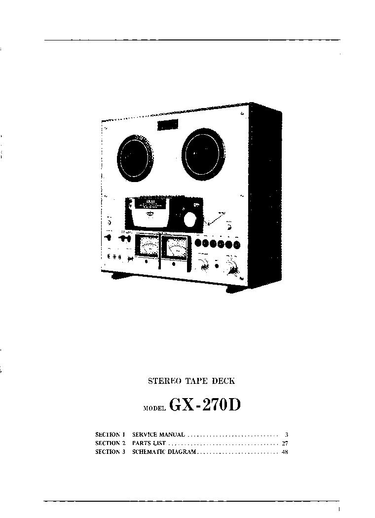 Akai Gx 270d Service Manual Schematic Diagram