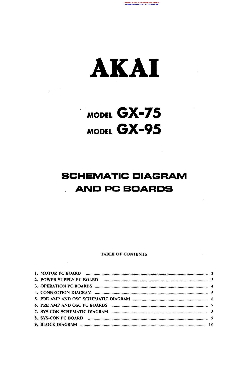enlarge Array - akai gx 75 95 sch service manual download schematics eeprom  rh elektrotanya com