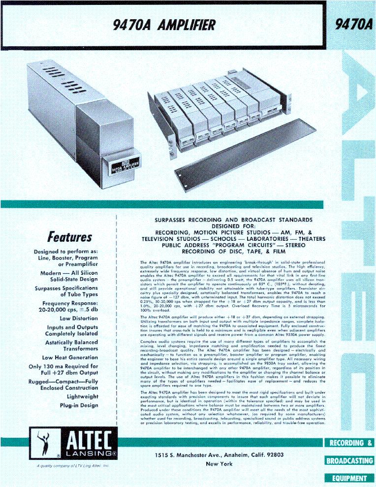 altec lansing 1432a equlizer service manual download. Black Bedroom Furniture Sets. Home Design Ideas