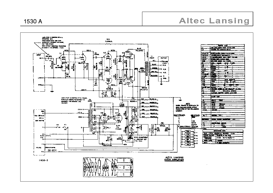 Altec Lansing 1530a Sch Service Manual Download Schematics Eeprom Repair Info For Electronics Experts